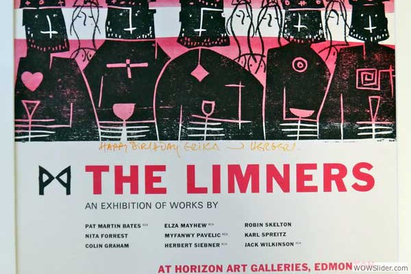 Herbert Siebner Poster for Limners at Horizon Gallery 1981